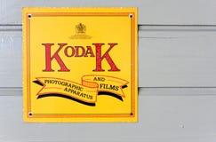 Annata Kodak che fa pubblicità al segno Immagine Stock