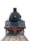 Annata locomotiva del vapore del treno anteriore fotografie stock libere da diritti