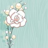 Fondo delle perle e di Rosa Immagini Stock