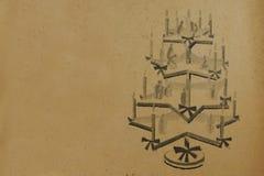Annata-natale-albero-contesto Immagine Stock