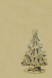Annata-natale-albero-priorità bassa Immagine Stock