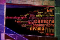 Annata negativa d'annata di bianco del nero della striscia del film Immagine Stock Libera da Diritti