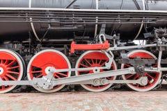 Annata, primo piano del treno a vapore fotografia stock libera da diritti