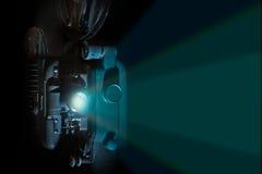 Annata raggio luminoso del proiettore di pellicola da 8 millimetri Immagine Stock