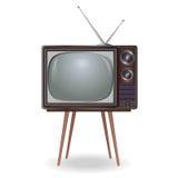Annata realistica TV sopra bianco Fotografia Stock