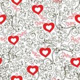 Annata romantica del biglietto di S. Valentino senza giunte Fotografia Stock