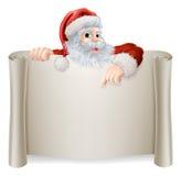 Annata Santa Sign di Natale Fotografia Stock Libera da Diritti