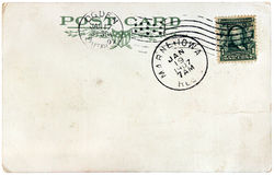 Annata Stati Uniti Postcard, 1907 Immagine Stock Libera da Diritti