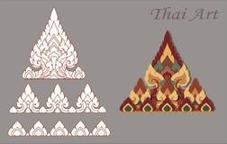 Annata tailandese di colore di Krajang Art Modern Design Fotografia Stock
