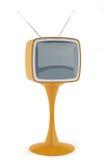 Annata TV isolata Fotografia Stock Libera da Diritti