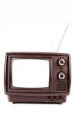 Annata TV su bianco Fotografie Stock