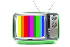 Annata TV su fondo bianco Immagini Stock