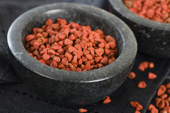 Annatto Seeds Stock Photo