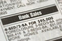 Anúncio da execução duma hipoteca Fotos de Stock Royalty Free