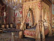 Anne av Österrike rum i den Fontainebleau slotten Royaltyfria Foton