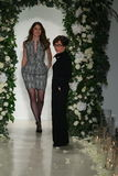 Anne Barge(R) and Shawnee Reese (L) walks the runway at the Anne Barge Fall 2014 Bridal collection show Stock Photography