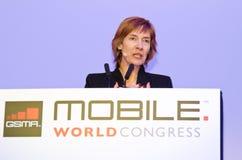 Anne Bouverot, diretor-geral de GSMA Foto de Stock