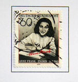 Anne Frank. Foto de archivo