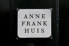 Anne Frank House, Amsterdam stock photography