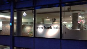 The Anne Frank house museum in Amsterdam at Prinsengracht City of Amsterdam stock video footage