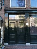 The Anne Frank House on the Prinsengracht in Amsterdam, the Netherlands. Is a museum dedicated to Jewish war diarist Anne Frank, who hid herself from Nazi royalty free stock photos
