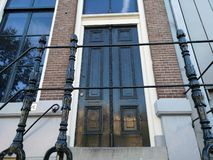 The Anne Frank House on the Prinsengracht in Amsterdam, the Netherlands. Is a museum dedicated to Jewish war diarist Anne Frank, who hid herself from Nazi stock image