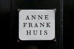 Anne Frank hus, Amsterdam Arkivbild