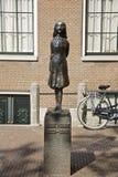 Anne Frank i Amsterdam Arkivfoton