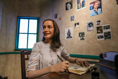 Anne Frank, Mevrouw Tussauds stock foto's
