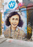 Anne frank mural in berlin Royalty Free Stock Photo