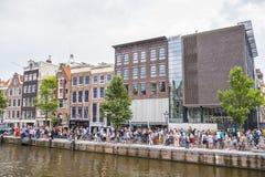 Anne Frank Museum in Amsterdam - AMSTERDAM - NEDERLAND - 20 JULI, 2017 Royalty-vrije Stock Fotografie