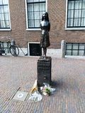 Anne Frank Statue. In Amsterdam city centre, close to Anne Frank's house Stock Photos