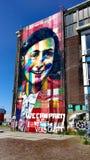Anne Frank väggmålning i Amsterdam royaltyfri foto