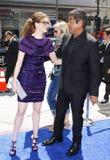 Anne Hathaway και George Lopez Στοκ Εικόνα