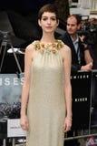 Anne Hathaway, το σκοτάδι Στοκ εικόνα με δικαίωμα ελεύθερης χρήσης
