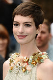 """Anne Hathaway. Arriving for European premiere of """"The Dark Knight Rises"""" at the Odeon Leicester Square, London. 18/07/2012 Picture by: Steve Vas / Featureflash Royalty Free Stock Photos"""