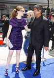 Anne Hathaway and George Lopez Stock Image