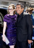 Anne Hathaway and George Lopez Stock Images