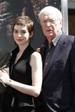Anne Hathaway,Michael Caine Royalty Free Stock Photos
