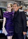 Anne Hathaway och George Lopez Fotografering för Bildbyråer