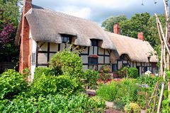 Anne Hathaway's Cottage. Cottage of the Hathaway family, in-laws to William Shakespeare, in Stratford-upon-Avon, England stock photography