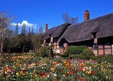 Anne Hathaways Cottage, Shottery. stock fotografie