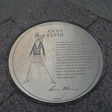 Anne Klein Plaque Royalty Free Stock Images