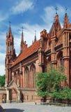anne kyrklig stadslithuania s st vilnius Arkivbild