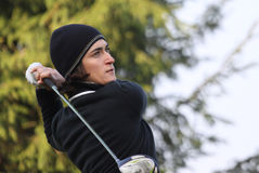 Anne lise Caudal, Trophee Preven's 2010. BUSSY SAINT-GEORGES GOLF COURSE, FRANCE - OCTOBER 14 Stock Images