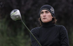 Anne lise Caudal, Trophee Preven's 2010. BUSSY SAINT-GEORGES GOLF COURSE, FRANCE - OCTOBER 15 : anne Lise Caudal (FRA) at Trophee Prevens, Ladies European Tour royalty free stock image