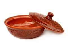 Annealed clay bowl and cover Royalty Free Stock Photography