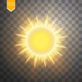 Anneau abstrait d'énergie d'or sur le fond transparent Sun illustration libre de droits