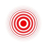 Anneau audacieux d'isolement de rouge de vecteur Cercle de douleur Symbole de douleur Pour votre conception médicale illustration libre de droits