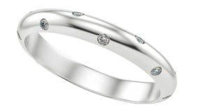 Anneau avec des diamants Photos libres de droits